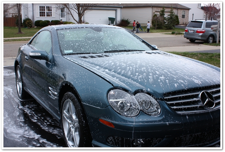 Shampoo dwelling on Mercedes SL500