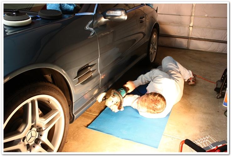 Polishing Mercedes SL500 with Menzerna Power Finish