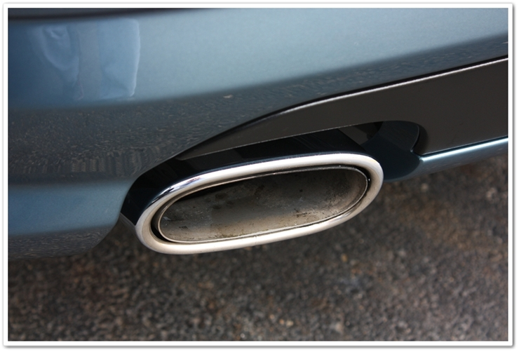 After detailing Mercedes SL500 exhaust tips