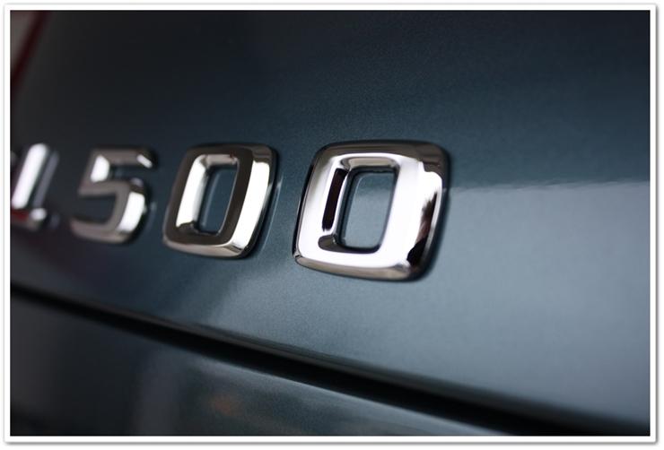 After detailing Mercedes SL500 badge
