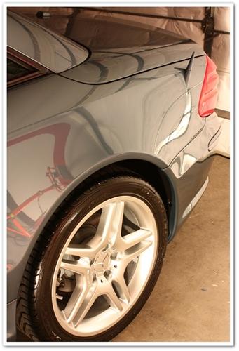 2006 Mercedes SL500 tire shine after detail