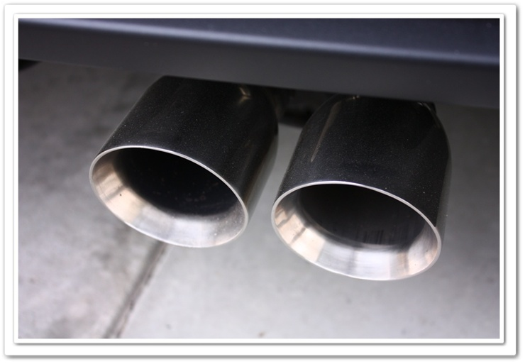 2008 Chevy Z06 Corvette dirty exhaust tips
