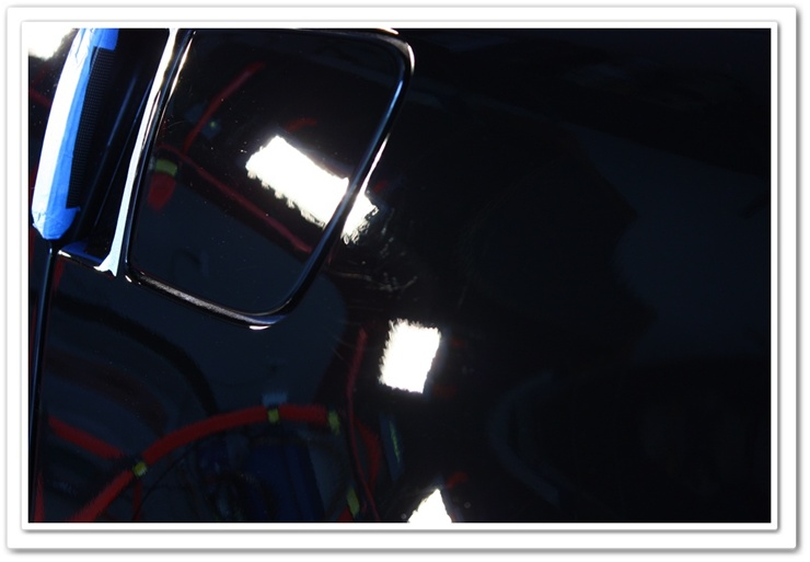 2008 black Chevy Z06 Corvette scratches corrected near fuel lid