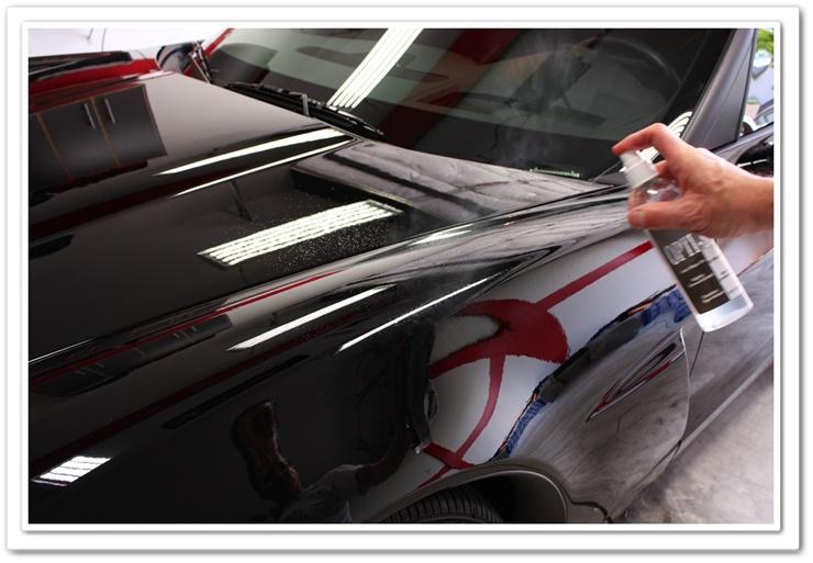 Applying OPT Opti-Seal to a 2008 black Z06 Chevy Corvette