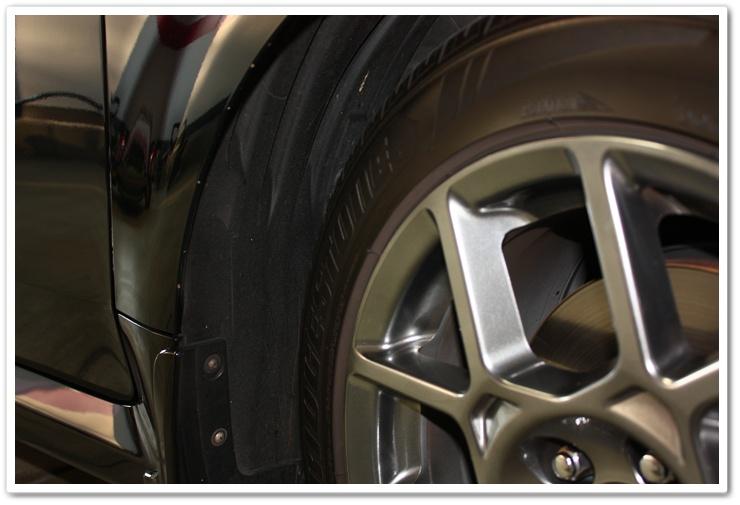 Wheel wells before using Chemical Guys Fade 2 Black