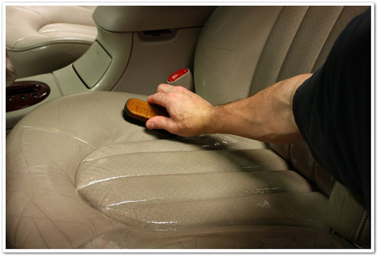 Brushing Prestine Clean into seats