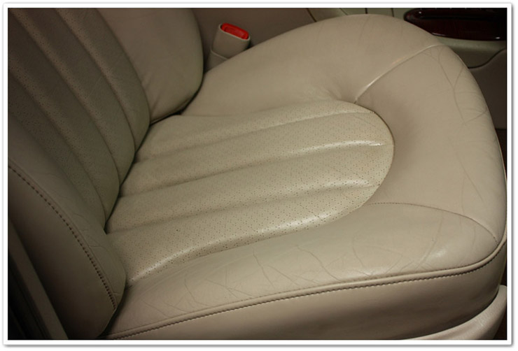 Passenger side after Leatherique leather restoration process