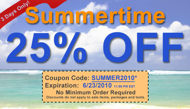 Summertime 25% Off at DetailedImage.com