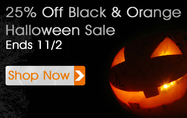 25% Off Black and Orange Halloween Sale