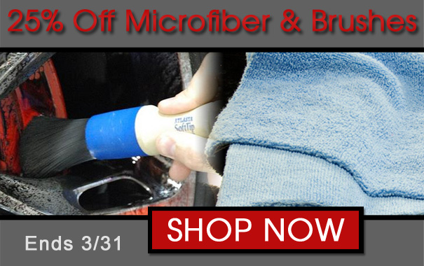 25% Off Microfiber and Brushes
