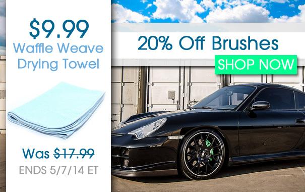 $9.99 Waffle Weave & 20% Off Brush Sale