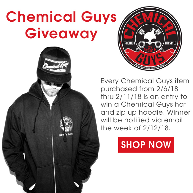 Detailed Image Chemical Guys Giveaway 2/6/18