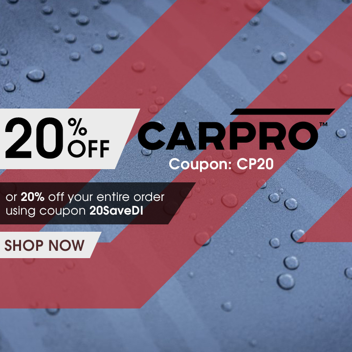 20% Off CarPro Coupon CP20 or 20% off your entire order using coupon 20SaveDI - Shop Now