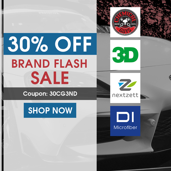 30% Off Brand Flash Sale On Chemical Guys, 3D, Nextzett, and DI Microfiber - Coupon 30CG3ND - Shop Now