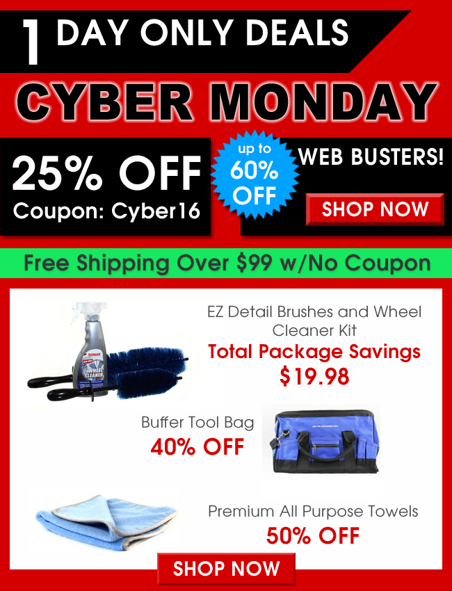 Cyber Monday - 1 Day Only Deals