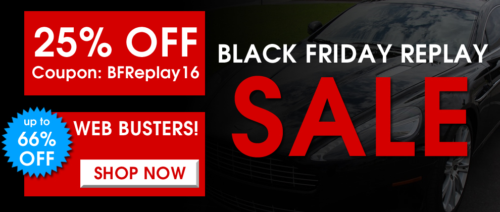 Black Friday Replay Sale! 25% Off Coupon BFReplay16 - Up To 66% Off Web Busters - Shop Now