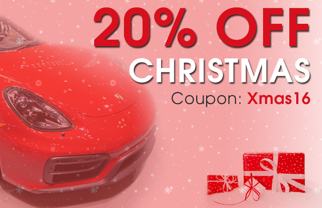20% Off Christmas - Coupon: Xmas16
