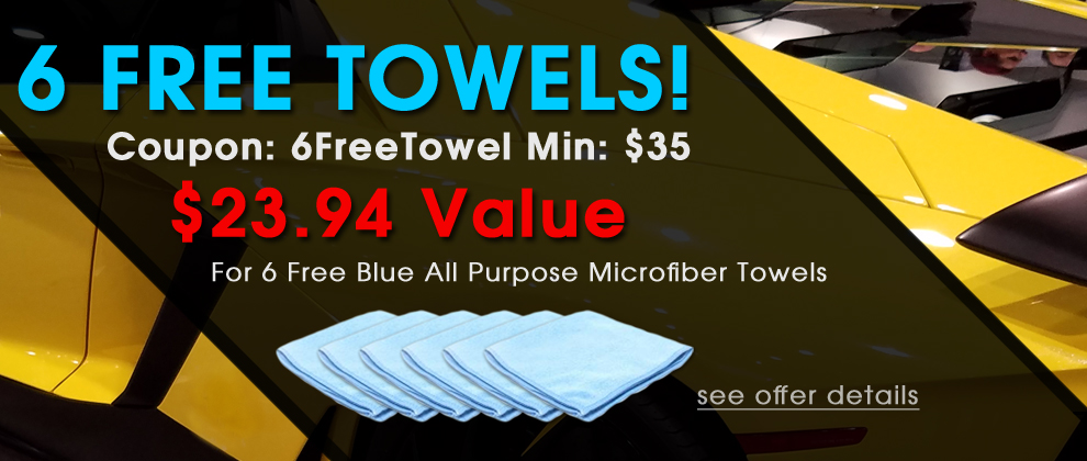 6 Free Towels! Coupon: 6FreeTowel Min: $35 - $23.94 Vlaue For 6 Free Blue All Purpose Towels - see offer details