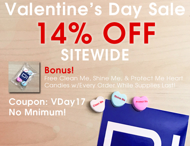 Valentine's Day Sale - 14% Off Sitewide!