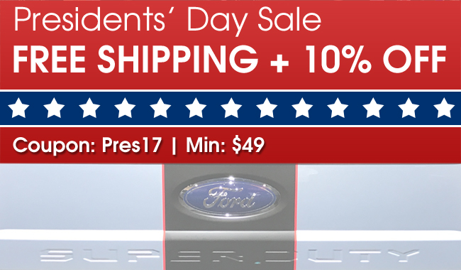 Presidents' Day Sale - Free Shipping + 10% Off - Coupon: Pres17 - Min: $49
