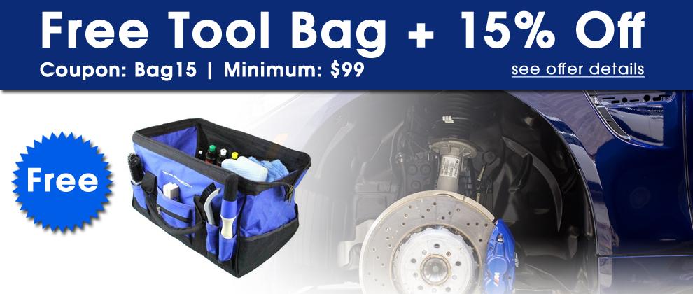 Free Tool Bag + 15% Off! Coupon: Bag15 - Minimum: $99 - see offer details