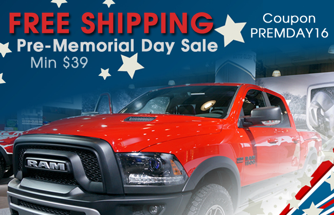 Free Shipping! Pre-Memorial Day Sale! Coupon PREMDAY16 - Minimum $39