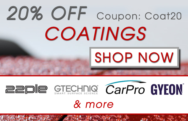 20% Off Coatings! Coupon:Coat20 - Shop Now