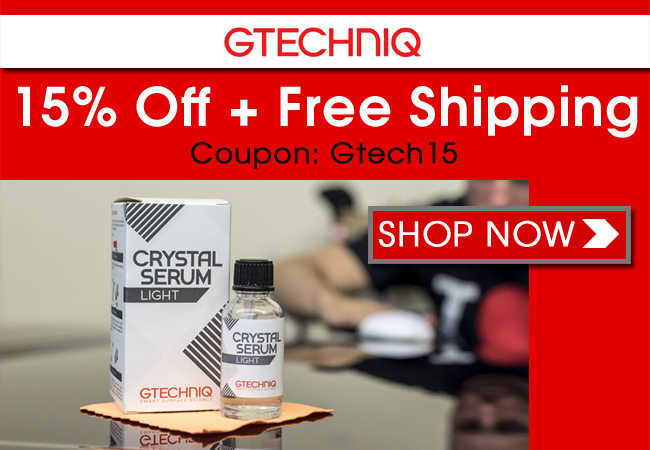 15% Off + Free Shipping On Gtechniq - Coupon: Gtech15 - Shop Now