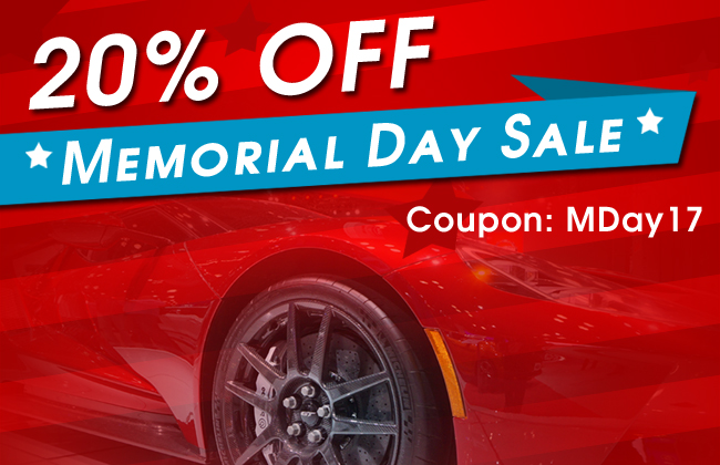 20% Off Memorial Day Sale - Coupon: MDay17 - see offer details