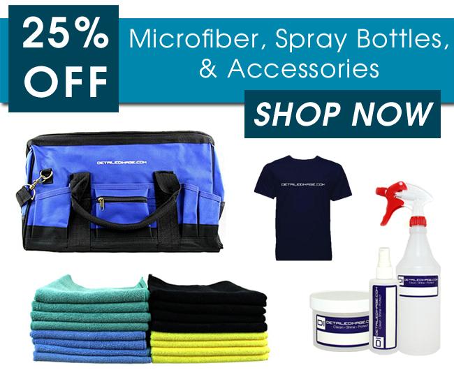 25% Off Microfiber, Spray Bottles, & Accessories