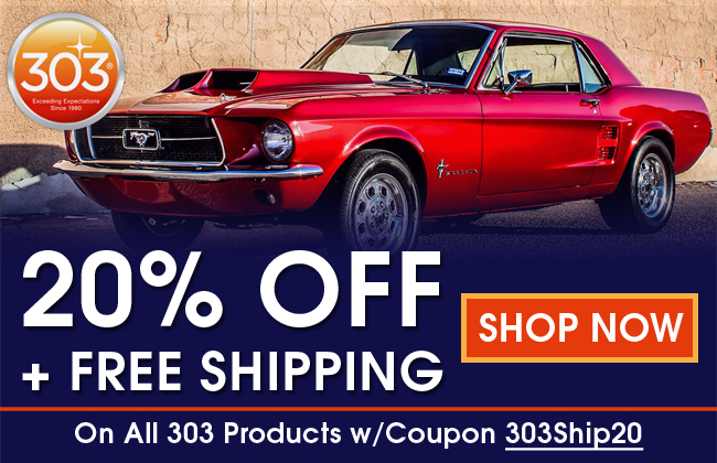 20% Off + Free Shipping On All 303 Products Coupon 303Ship20 - Shop Now