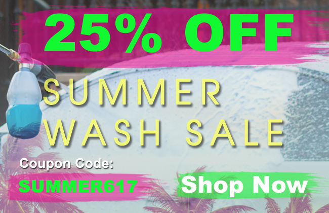 25% Off Summer Wash Sale - Coupon Code: Summer617 - see offer details