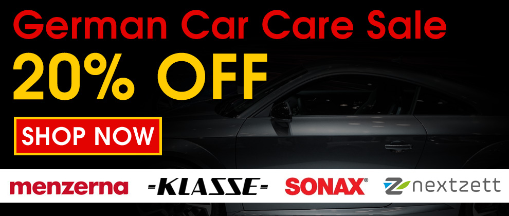 German Car Care Sale 20% Off - Menzerna, Klasse, Sonax, & Nextzett - Shop Now
