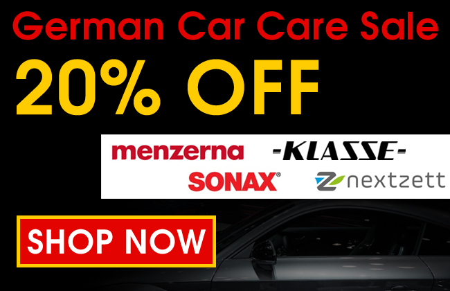 German Car Care Sale 20% Off - Menzerna, Klasse, Sonax, & Nextzett - Shop Now