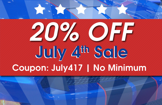 20% Off July 4th Sale - Coupon: July417 - No Minimum