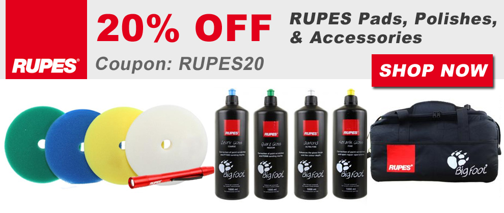 20% Off Rupes Pads, Polishes, & Accessories - Coupon Rupes20 - Shop Now