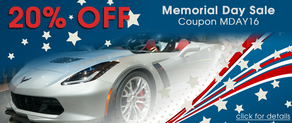 20% Off Memorial Day Sale! Coupon MDAY16 - click for details