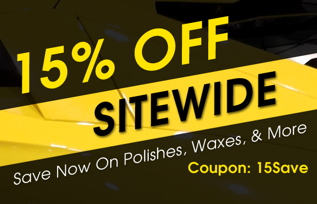 15% Off Sitewide - Save Now On Polishes, Waxes, & More - Coupon: 15Save