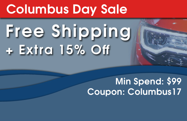 Columbus Day Sale - Free Shipping + Extra 15% Off - Min Spend: $99 - Coupon Code: Columbus17