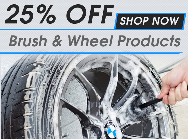 25% Off Brush & Wheel Products