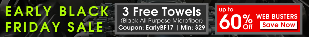 Early Black Friday Sale - 3 Free Towels - Coupon: EarlyBF17 - Min: $29 - Up To 60% Off Web Busters - Save Now