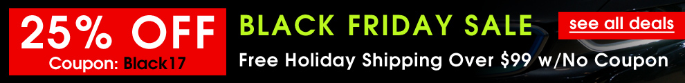 Black Friday Sale - 25% Off Coupon Black17 - Free Holiday Shipping Over $99 w/No Coupon - see all deals