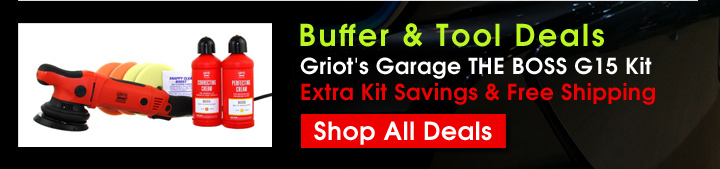 Buffer & Tool Deals - Griot's Garage THE BOSS G15 Kit Extra Kit Savings & Free Shipping - Shop All Deals