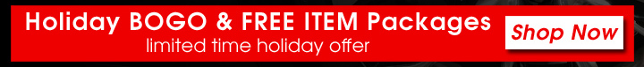 Holiday BOGO and FREE ITEM Packages - Shop Now