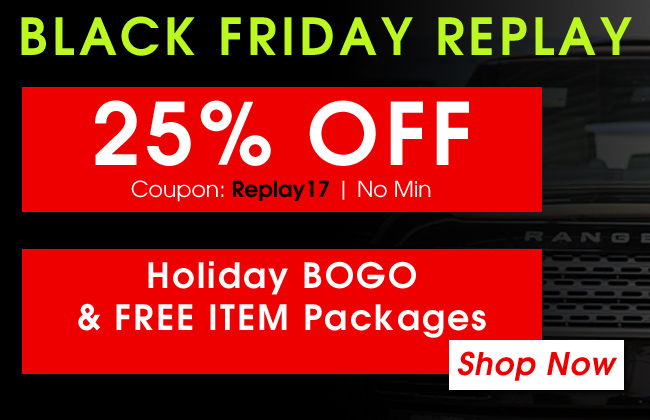 25% Off Black Friday Replay - Coupon: Replay17 - No Min - Holiday BOGO and FREE ITEM Packages - Shop Now