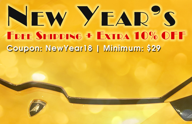 New Year's Free Shipping + Extra 10% Off - Coupon: NewYear18 - Minimum: $29