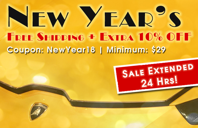 New Year's Free Shipping + 10% Off Extended
