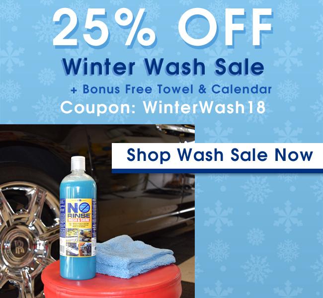25% Off Winter Wash Sale - Bonus Free Towel and Calendar - Coupon: WinterWash18 - Shop Wash Sale Now