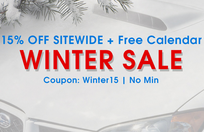 15% Off Sitewide + Free Calendar Winter Sale - Coupon: Winter15 - No Min