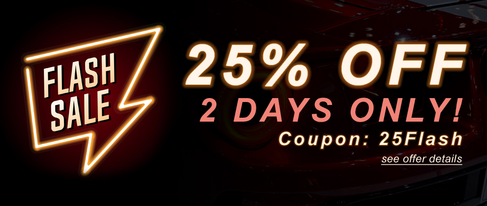 Flash Sale - 25% Off - 2 Days Only! Coupon: 25Flash - see offer details